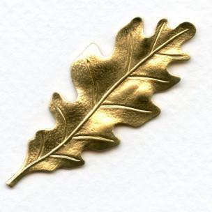 Oak Leaf Raw Brass Stampings 55mm (3)