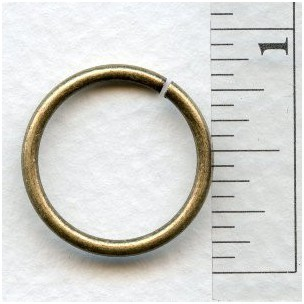 Jump Rings 20mm Round Oxidized Brass