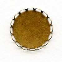^Lace Edge Settings Round 21mm Oxidized Brass (12)