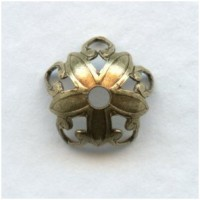 Open Tip Petals Bead Caps 8mm Oxidized Brass (24)