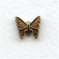 Tiny Oxidized Brass Butterfly Stamping 10mm