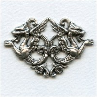 Chimaeras Plaque Oxidized Silver 58mm (1)
