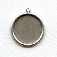 Simple Settings 18mm Oxidized Silver with Loop (6)