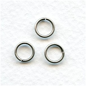 Jump Rings 7.4mm Round Oxidized Silver (24)