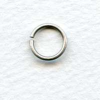 Oxidized Silver Jump Rings 10mm Round (24)