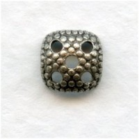 Most Popular Square 7mm Bead Cap Oxidized Silver (24)