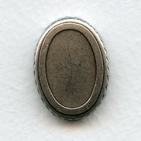 Crown Edge Settings 25x18mm Oxidized Silver (6)