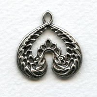 Creative Wings Pendant Oxidized Silver 26mm (4)