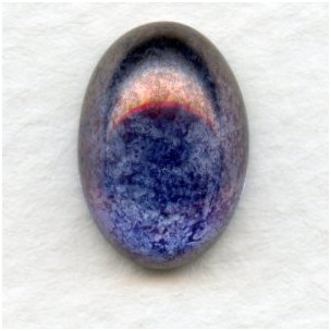 ^Purple Luster Effect Glass Cabs 14x10mm