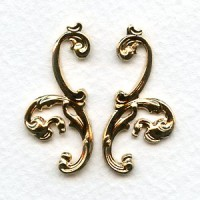 Grand Flourish Scrolls Bright Gold 33mm (1 Set)