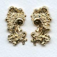 Victorian Detail Flourishes Bright Gold 31mm (1 set)