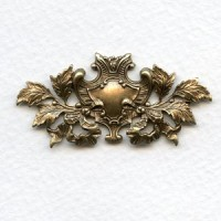 ^Coat of Arms Oxidized Brass 48mm (1)