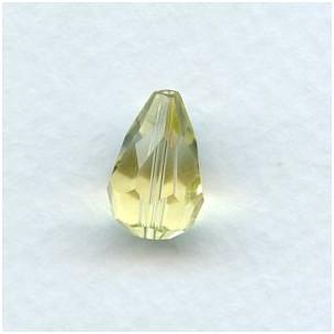 Jonquil Machine Cut Glass Tear Drop Beads 13x9mm