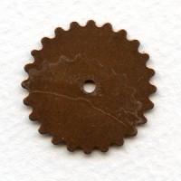 ^Steampunk Wheels Oxidized Copper 25mm
