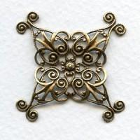 Filigree Wrap 35mm Oxidized Brass (1)