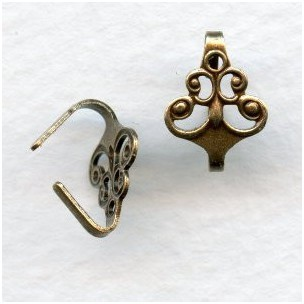 Victorian Filigree Bail Unique Oxidized Brass (3)