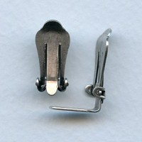 Clip Earring Findings Oxidized Silver