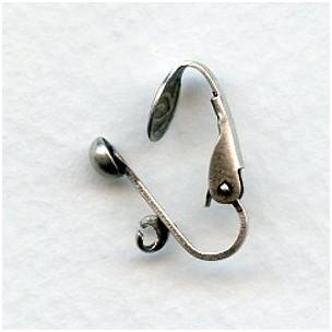 Pierced Look Clip Earring Findings Oxidized Silver (24)