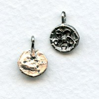 Swirl Design Earring Tops or Pendants Antique Silver (4)
