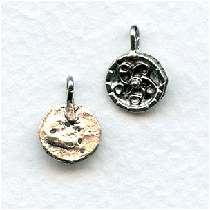 Swirl Design Earring Tops or Pendants Antique Silver (4)