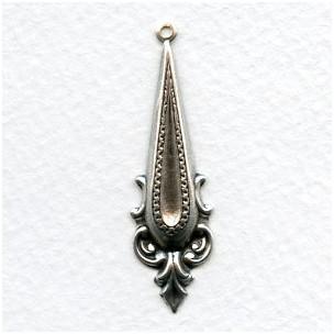 Ornate 44mm Pendant Oxidized Silver (12)