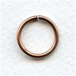 Jump Rings 16mm Round Oxidized Copper