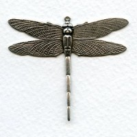 Dramatic Dragonfly with Loop 43mm Oxidized Silver (1)