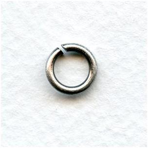 Heavy Duty Oxidized Silver Jump Rings 8.5mm (24)