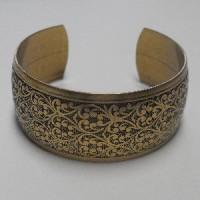 Embossed Oxidized Brass Cuff 25mm