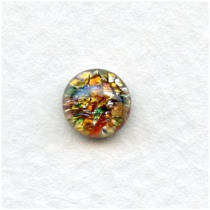 Multi-Color Glass Opal Cabochons Handmade 7mm (4)