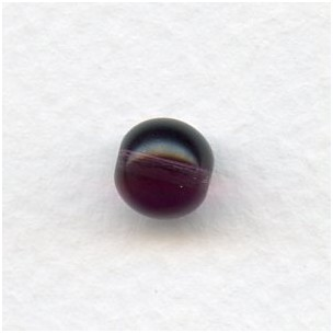 Smooth European Glass Druk Beads Amethyst 8mm