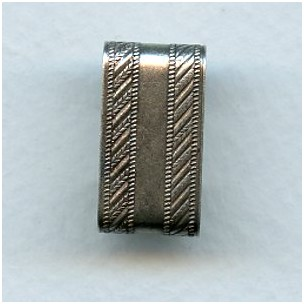 Patterned Wide Link Connectors Oxidized Silver (3)