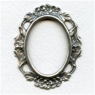 Floral Setting Frame Oxidized Silver (1)