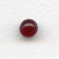 ^Smooth European Glass Druk Beads Garnet 8mm
