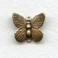 Butterfly Connectors Oxidized Brass 15mm (4)