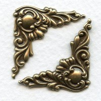 Corner Details Oxidized Brass Fancy Victorian Style (6)