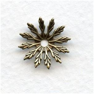 Dapt Flower Oxidized Brass Stampings 17mm (12)