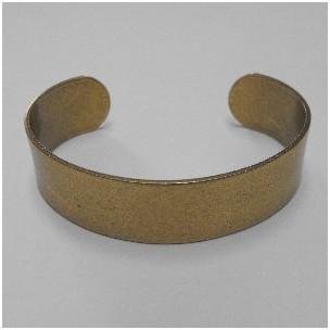 Men's Smooth Oxidized Brass Smooth Cuff 19mm (1)
