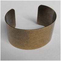 Smooth Oxidized Brass Cuff 37mm Wide (1)