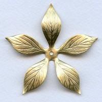 Huge Raw Brass Flower Stamping 70mm