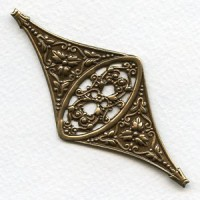 Excellent Openwork Floral Oxidized Brass Stamping (1)