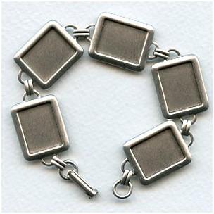 Bracelet Finding 16x12mm Settings Oxidized Silver (1)