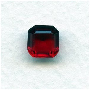 Ruby Glass Square Octagon Jewelry Stones 8x8mm (2)