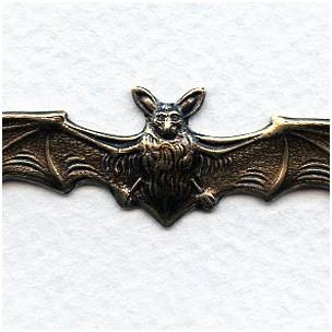 Bats in Flight Oxidized Brass Stampings (3)