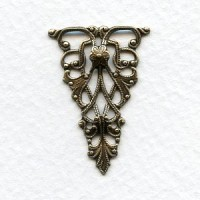 Filigree Triangle 31mm Connector Oxidized Brass (4)