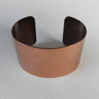 Smooth Oxidized Copper Cuff 37mm (1)