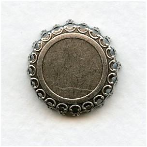Crown Edge Settings 18mm Oxidized Silver (6)