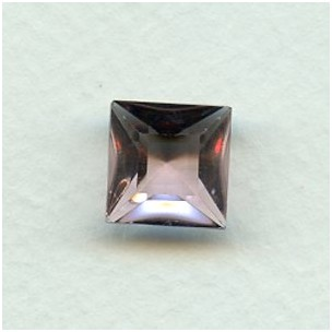 ^Square Light Amethyst Pointed Back Stones 12x12mm