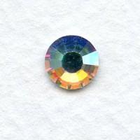 ^Round Crystal AB Foiled Rhinestones Flat Back ss34 (6)