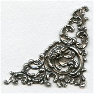 Fabulous Corner Detail Oxidized Silver 92mm (1)